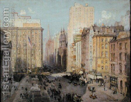 Fifth Avenue, New York, 1913 by Colin Campbell Cooper - Reproduction Oil Painting