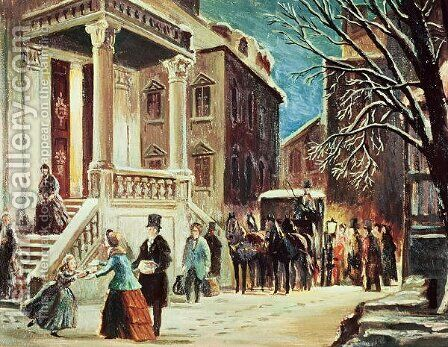 Arrival at the Christmas Party by James Cooper - Reproduction Oil Painting