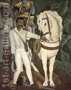 Agrarian Leader Zapata by Diego Rivera - Reproduction Oil Painting