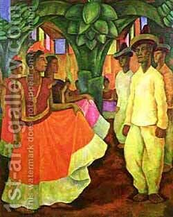 Dance In Tehuantepec 1928 by Diego Rivera - Reproduction Oil Painting