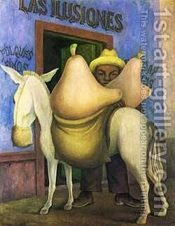 Las Ilusiones 1944 by Diego Rivera - Reproduction Oil Painting