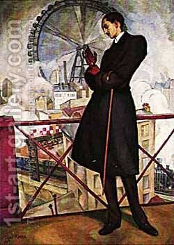 Portrait Of Adolf Best Maugard 1913 by Diego Rivera - Reproduction Oil Painting