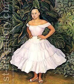 Retrato Do Irene Phillips Olmedo 1955 by Diego Rivera - Reproduction Oil Painting