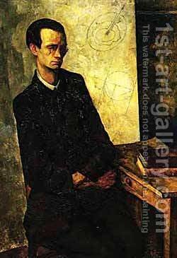 The Mathematician 1918 by Diego Rivera - Reproduction Oil Painting