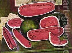 The Watermelons 1957 by Diego Rivera - Reproduction Oil Painting