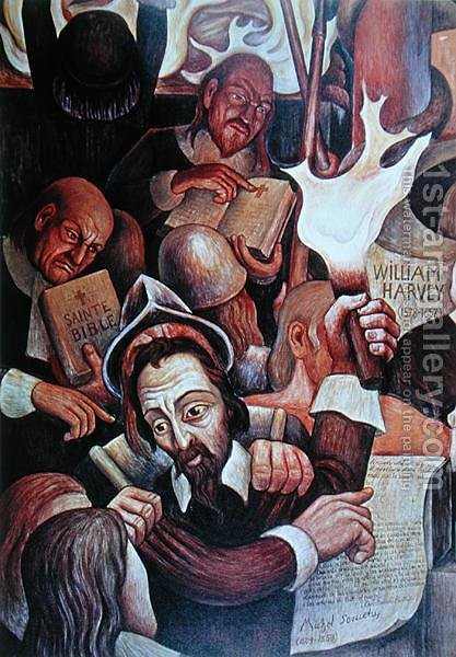 Michel Servet (1511-53), martyr of Science by Diego Rivera - Reproduction Oil Painting