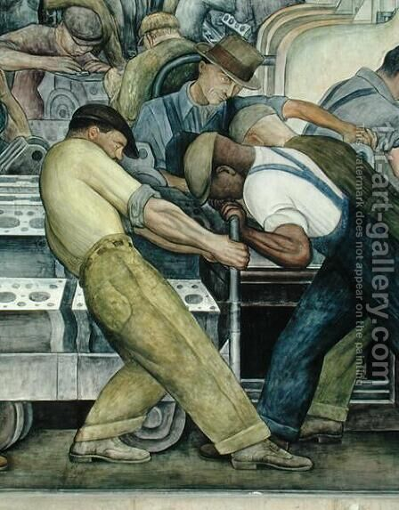 Detroit Industry-9,  1933 by Diego Rivera - Reproduction Oil Painting