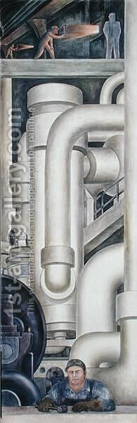 Detroit Industry-21,  1932-33 by Diego Rivera - Reproduction Oil Painting
