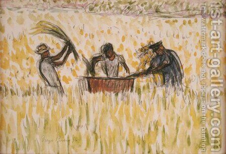 Rice Pickers 1956 by Diego Rivera - Reproduction Oil Painting