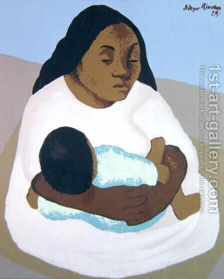 Motherhood  1928 by Diego Rivera - Reproduction Oil Painting