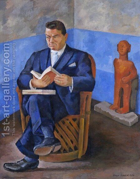 Portrait of John Dunbar, 1931 by Diego Rivera - Reproduction Oil Painting