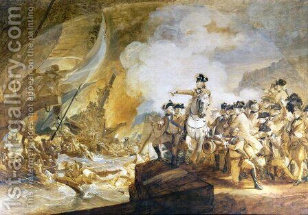 The Siege and Relief of Gibraltar, 14th September 1782, c.1783 by John Singleton Copley - Reproduction Oil Painting