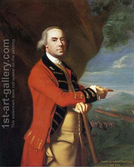 Portrait of General Thomas Gage, c.1768 by John Singleton Copley - Reproduction Oil Painting