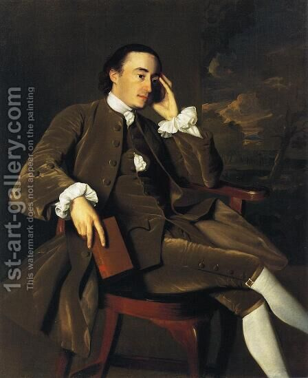 John Bours (1734-1815), c.1765-70 by John Singleton Copley - Reproduction Oil Painting