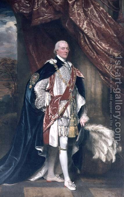 George John Spencer, 1st Lord of the Admiralty in Garter Robes by John Singleton Copley - Reproduction Oil Painting