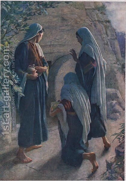 The Women at the Sepulchre, 1927 by Harold Copping - Reproduction Oil Painting