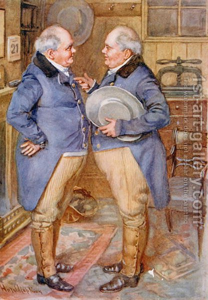 The Brothers Cheeryble, 1924 by Harold Copping - Reproduction Oil Painting