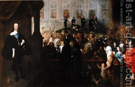 Execution of Charles I (1600-49) at Whitehall, January 30th, 1649 by Gonzales Coques - Reproduction Oil Painting