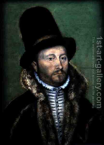Portrait of a Man by Corneille De Lyon - Reproduction Oil Painting