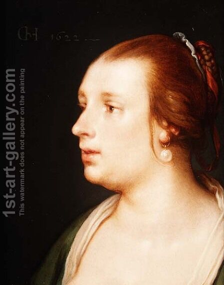 Portrait of a Woman, 1622 by Cornelis Cornelisz Van Haarlem - Reproduction Oil Painting