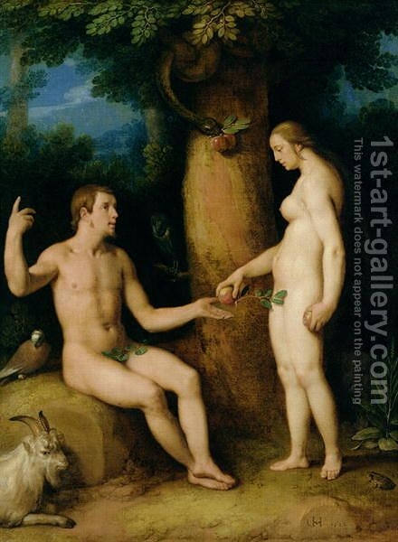 Adam and Eve, 1622 by Cornelis Cornelisz Van Haarlem - Reproduction Oil Painting