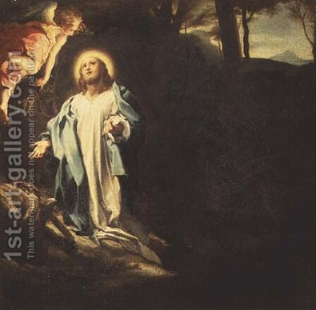 Christ in the Garden of Gethsemane by Correggio (Antonio Allegri) - Reproduction Oil Painting