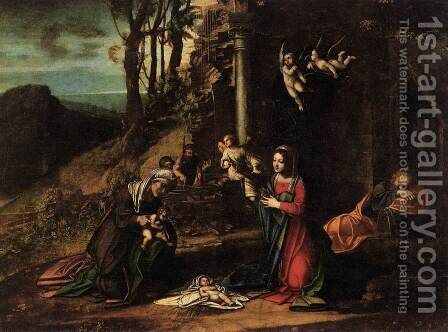 Adoration of the Christ Child by Correggio (Antonio Allegri) - Reproduction Oil Painting