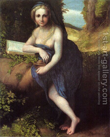 The Magdalene, c.1518-19 by Correggio (Antonio Allegri) - Reproduction Oil Painting
