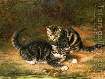 Kittens by Horatio Henry Couldery - Reproduction Oil Painting