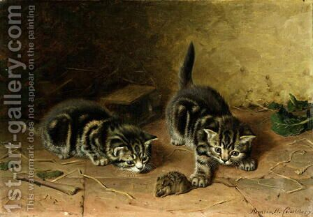 Reluctant Playmate by Horatio Henry Couldery - Reproduction Oil Painting