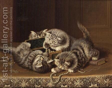 Kittens 2 by Horatio Henry Couldery - Reproduction Oil Painting