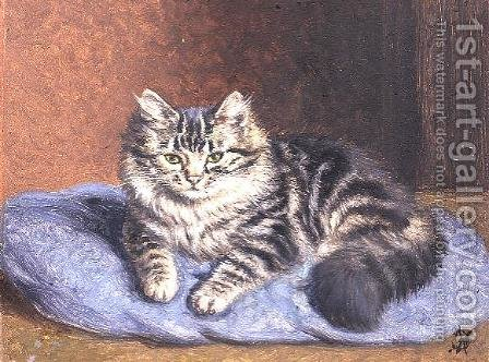 The Blue Cushion by Horatio Henry Couldery - Reproduction Oil Painting