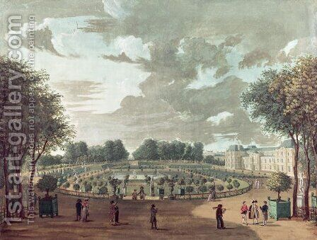 The Luxembourg Gardens by Henri  (after) Courvoisier-Voisin - Reproduction Oil Painting