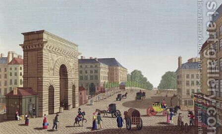 The Porte Saint Martin, c.1815-20 by Henri  (after) Courvoisier-Voisin - Reproduction Oil Painting
