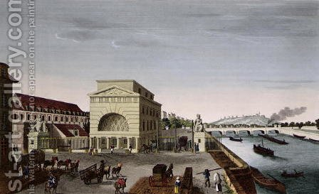 The Barriere de Passy, c.1815-20 by Henri  (after) Courvoisier-Voisin - Reproduction Oil Painting