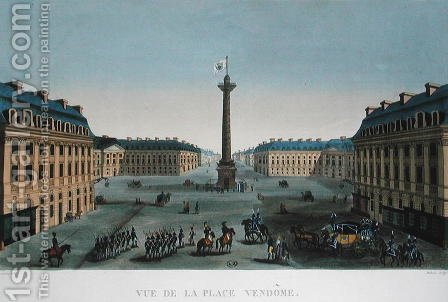 The Place Vendome, c.1815-20 by Henri  (after) Courvoisier-Voisin - Reproduction Oil Painting