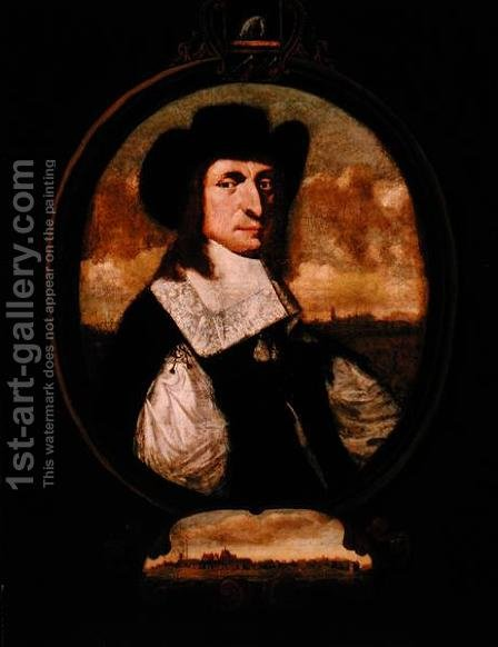 Portrait of Cornelius Steenwyck (d.1684), c.1668 by Hendrick  (attr.) Couturier - Reproduction Oil Painting