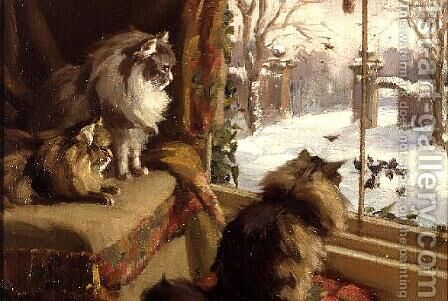 At the Window by Agnes Cowieson - Reproduction Oil Painting
