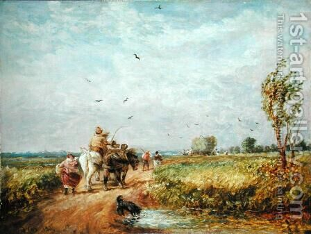 Going to the Hayfield, 1853 by David Cox - Reproduction Oil Painting