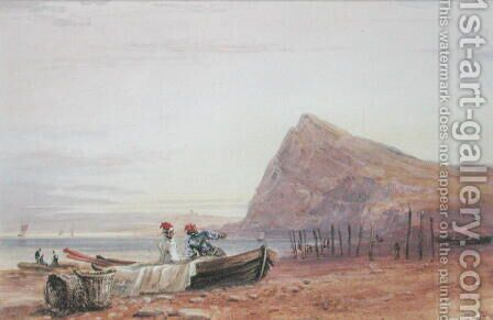 Shakespeare's Cliff, Dover, at Sunset, 1827 by David Cox - Reproduction Oil Painting