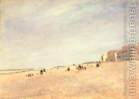 Rhyl Sands, c.1854 by David Cox - Reproduction Oil Painting