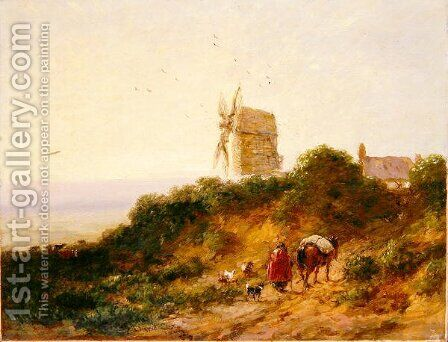The Road to the Mill, 1849 by David Cox - Reproduction Oil Painting