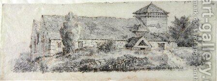 Llanfair Church, North Wales, c.1813 by David Cox - Reproduction Oil Painting