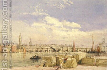 London Bridge, c.1828-30 by David Cox - Reproduction Oil Painting