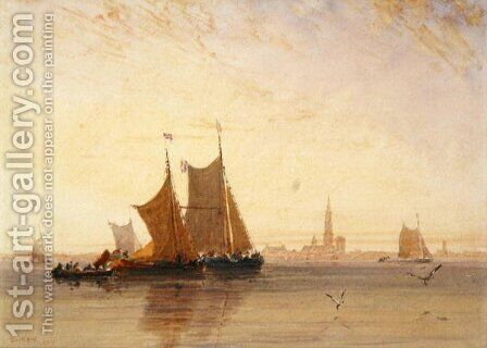 Antwerp, Morning, 1832 by David Cox - Reproduction Oil Painting