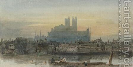 Westminster from Lambeth, c.1813 by David Cox - Reproduction Oil Painting