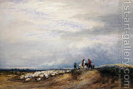 Riders at Ulverstone by David Cox - Reproduction Oil Painting