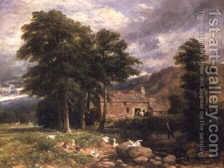 The Old Mill at Bettws-y-Coed by David Cox - Reproduction Oil Painting
