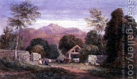 View of Cader Idris by David Cox - Reproduction Oil Painting