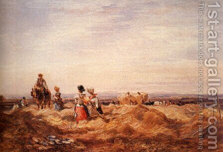 In the Hayfield by David Cox - Reproduction Oil Painting